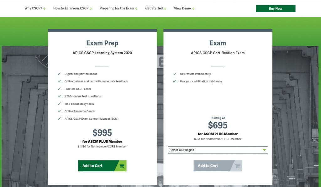 Certyfikat APICS CSCP Cena  2345 USD