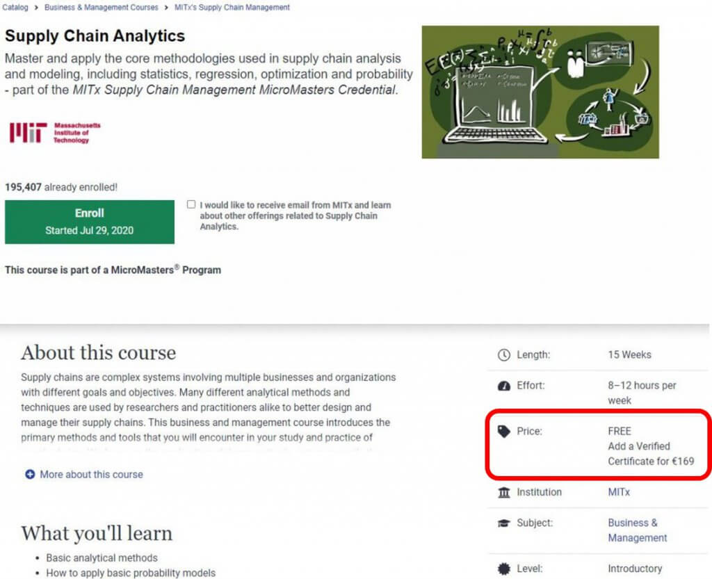 Certyfikat APICS Alternatywa MIT Micromasters