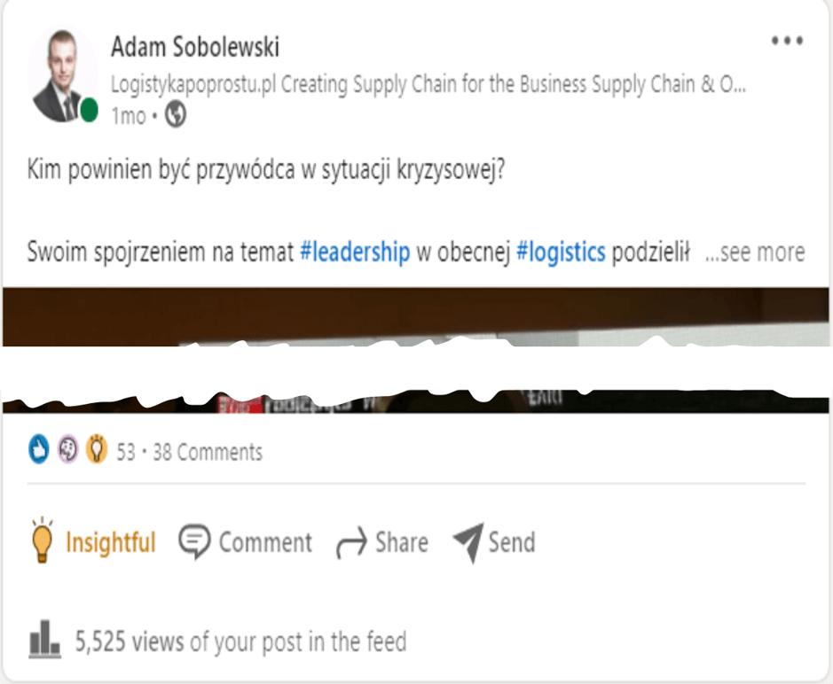 Adam Sobolewski bloger post Forum Polskich Managerów Logistyki