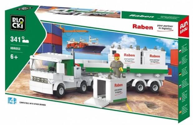 Logistyka klocki - ciężarówka